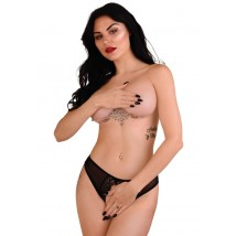 Bikini Angel Naughty Crotchless Negru L/XL
