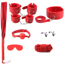 Set complet BDSM 8 Piese Rosu Guilty Toys